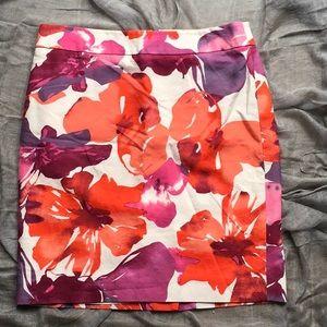 LOFT Floral Print Pencil-Skirt